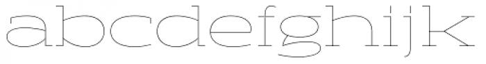 Halogen Slab Hairline Font LOWERCASE