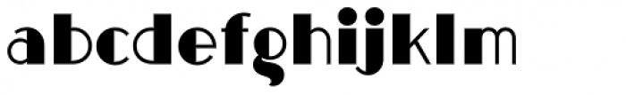 Halsted Solid Font LOWERCASE