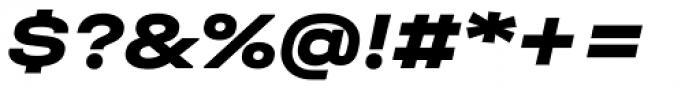 Halvar Breitschrift ExtraBold Slanted Font OTHER CHARS