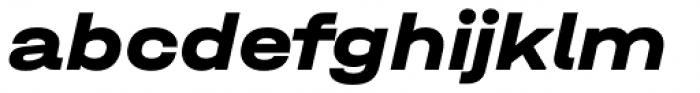 Halvar Breitschrift ExtraBold Slanted Font LOWERCASE