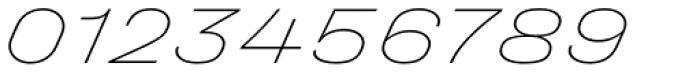 Halvar Breitschrift ExtraThin SuperSlanted Font OTHER CHARS