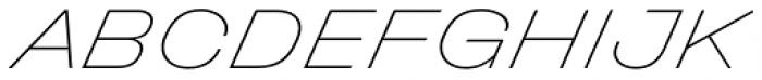 Halvar Breitschrift ExtraThin SuperSlanted Font UPPERCASE