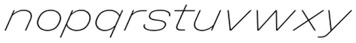 Halvar Breitschrift ExtraThin SuperSlanted Font LOWERCASE