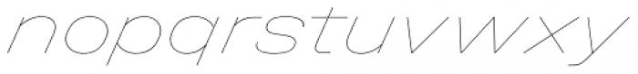 Halvar Breitschrift Hairline SuperSlanted Font LOWERCASE