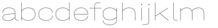 Halvar Breitschrift Hairline Font LOWERCASE