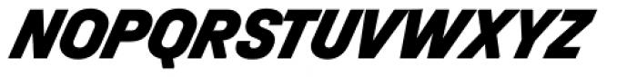 Halvar Mittelschrift Black SuperSlanted Font UPPERCASE
