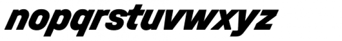 Halvar Mittelschrift Black SuperSlanted Font LOWERCASE