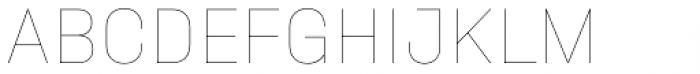 Halvar Mittelschrift Hairline Font UPPERCASE