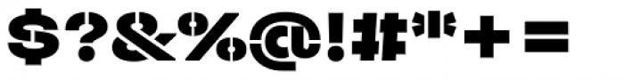 Halvar Stencil Breitschrift Black MidGap Font OTHER CHARS