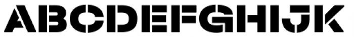 Halvar Stencil Breitschrift Black MidGap Font UPPERCASE