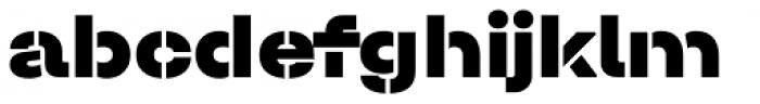 Halvar Stencil Breitschrift Black MidGap Font LOWERCASE