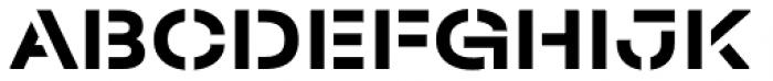 Halvar Stencil Breitschrift Bold MaxGap Font UPPERCASE