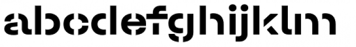 Halvar Stencil Breitschrift Bold MaxGap Font LOWERCASE