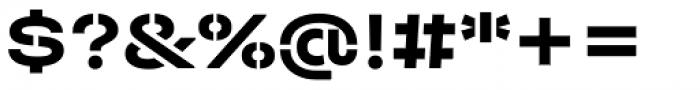 Halvar Stencil Breitschrift Bold MidGap Font OTHER CHARS