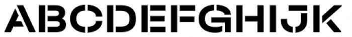 Halvar Stencil Breitschrift Bold MidGap Font UPPERCASE