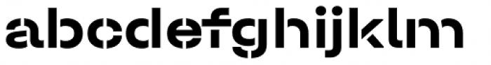 Halvar Stencil Breitschrift Bold MidGap Font LOWERCASE