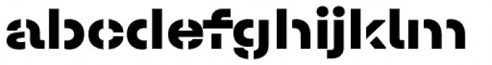 Halvar Stencil Breitschrift ExtraBold MaxGap Font LOWERCASE