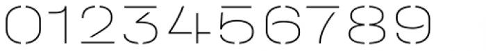 Halvar Stencil Breitschrift ExtraThin MidGap Font OTHER CHARS