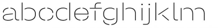 Halvar Stencil Breitschrift ExtraThin MidGap Font LOWERCASE