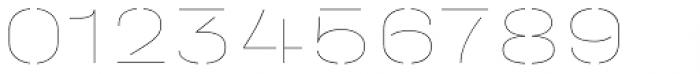 Halvar Stencil Breitschrift Hairline MidGap Font OTHER CHARS