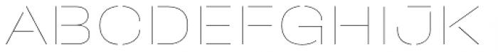 Halvar Stencil Breitschrift Hairline MidGap Font UPPERCASE
