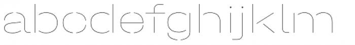 Halvar Stencil Breitschrift Hairline MidGap Font LOWERCASE