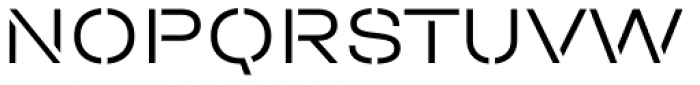 Halvar Stencil Breitschrift Light MidGap Font UPPERCASE
