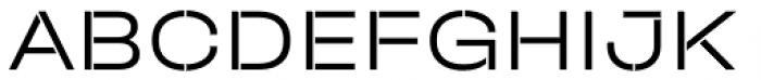 Halvar Stencil Breitschrift Light MinGap Font UPPERCASE