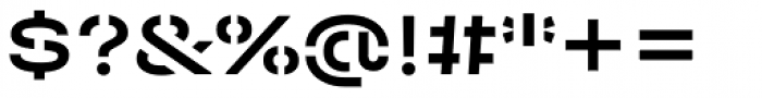 Halvar Stencil Breitschrift Medium MaxGap Font OTHER CHARS
