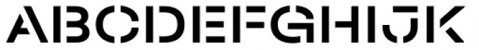 Halvar Stencil Breitschrift Medium MaxGap Font UPPERCASE