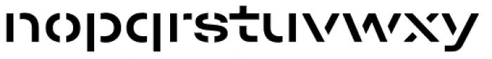 Halvar Stencil Breitschrift Medium MaxGap Font LOWERCASE
