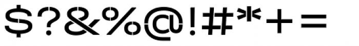 Halvar Stencil Breitschrift Regular MinGap Font OTHER CHARS