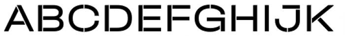 Halvar Stencil Breitschrift Regular MinGap Font UPPERCASE