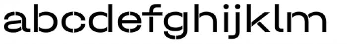 Halvar Stencil Breitschrift Regular MinGap Font LOWERCASE