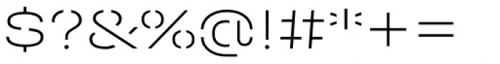 Halvar Stencil Breitschrift Thin MaxGap Font OTHER CHARS