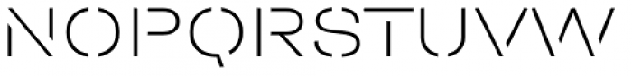 Halvar Stencil Breitschrift Thin MaxGap Font UPPERCASE