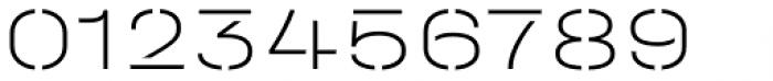 Halvar Stencil Breitschrift Thin MidGap Font OTHER CHARS