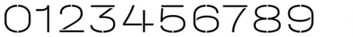 Halvar Stencil Breitschrift Thin MinGap Font OTHER CHARS