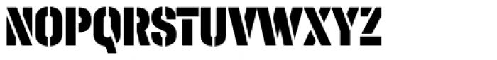 Halvar Stencil Engschrift Black MaxGap Font UPPERCASE