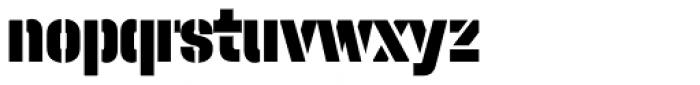 Halvar Stencil Engschrift Black MaxGap Font LOWERCASE