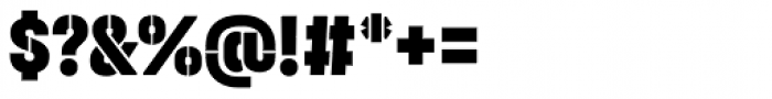 Halvar Stencil Engschrift Black MidGap Font OTHER CHARS