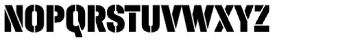 Halvar Stencil Engschrift Black MidGap Font UPPERCASE