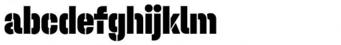 Halvar Stencil Engschrift Black MidGap Font LOWERCASE