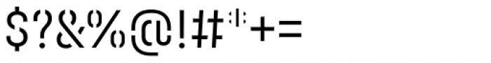 Halvar Stencil Engschrift Light MaxGap Font OTHER CHARS