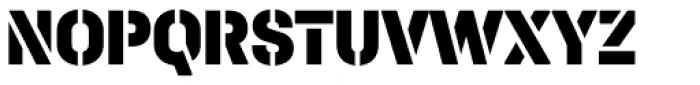 Halvar Stencil Mittelschrift Black MaxGap Font UPPERCASE