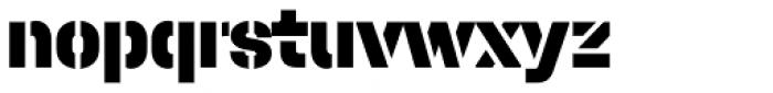 Halvar Stencil Mittelschrift Black MaxGap Font LOWERCASE