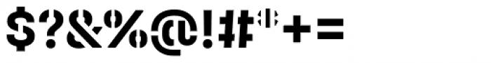 Halvar Stencil Mittelschrift Bold MaxGap Font OTHER CHARS