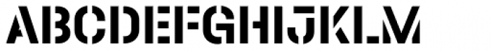 Halvar Stencil Mittelschrift Bold MaxGap Font UPPERCASE
