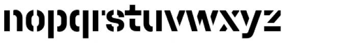 Halvar Stencil Mittelschrift Bold MaxGap Font LOWERCASE