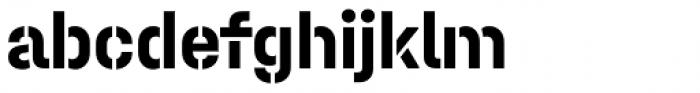 Halvar Stencil Mittelschrift Bold MidGap Font LOWERCASE